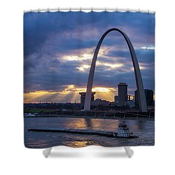 Sunset Over St Louis Shower Curtain by Garry McMichael