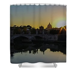 Sunset Over St Peters Shower Curtain