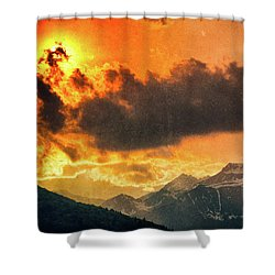 Shower Curtain featuring the photograph Sunset Over The Alps by Silvia Ganora
