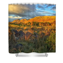 Sunset Over The Campsie Fells Shower Curtain