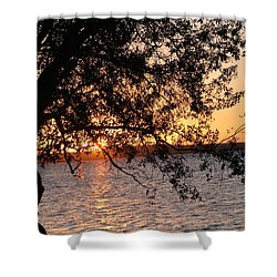 Sunset Over The Caribbean In Cienfuegos, Cuba Shower Curtain