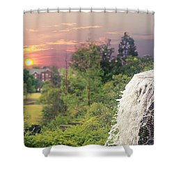 Sunset Over The City Shower Curtain
