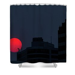 Sunset Over The City Of Portland Oregon Shower Curtain