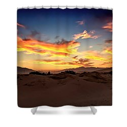 Sunset Over The Desert Shower Curtain