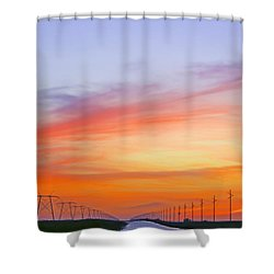 Sunset Over The Glades Shower Curtain