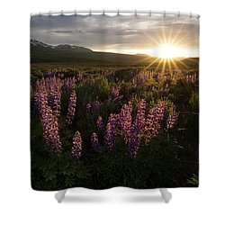 Sunset Over The Gore Range Shower Curtain by Aaron Spong