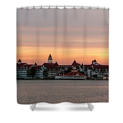 Sunset Over The Grand Floridian Shower Curtain
