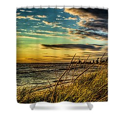 Sunset Over The Great Lake Shower Curtain