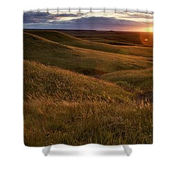 Sunset Over The Kansas Prairie Shower Curtain