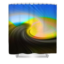 Sunset Over The Lake Shower Curtain by Lewis Mann