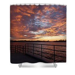 Sunset Over The Manasquan Inlet 2 Shower Curtain