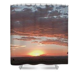 Sunset Over The Mara Shower Curtain