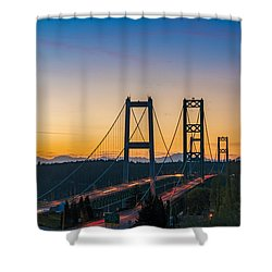 Sunset Over The Narrows Shower Curtain by Ken Stanback