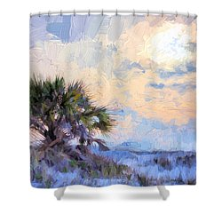 Shower Curtain featuring the photograph Sunset Over The National Seashore by JC Findley