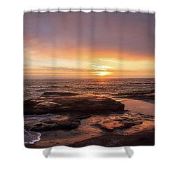 Shower Curtain featuring the photograph Sunset Over The Ocean by Tyra OBryant