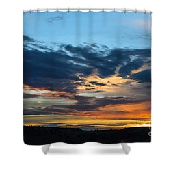 Sunset Over The Plains Of The Texas Panhandle 1 Shower Curtain
