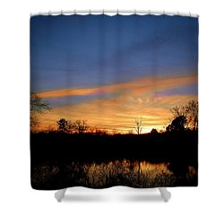Sunset Over The Sabine 02 Shower Curtain