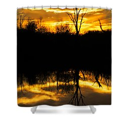 Sunset Over The Sabine River Shower Curtain