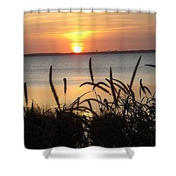Sunset Over The Sound  Shower Curtain by Joyce Wasser