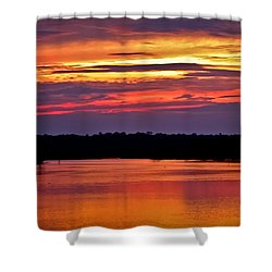 Sunset Over The Tomoka Shower Curtain
