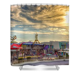 Sunset Over Tomorrowland Shower Curtain