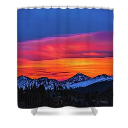Sunset Over Torreys And Grays Peaks Shower Curtain