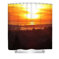 Sunset Over Vancouver Shower Curtain