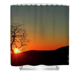 Shower Curtain featuring the photograph Sunset Over Virginia by Darren Fisher