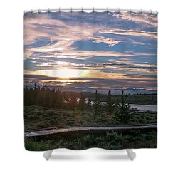 Sunset Over West Yellowstone Shower Curtain
