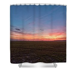 Sunset Pastures Shower Curtain