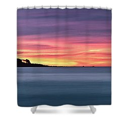 Sunset Penisular, Bunker Bay Shower Curtain by Dave Catley