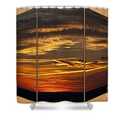 Sunset Perspective Shower Curtain