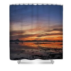 Sunset Pi Shower Curtain