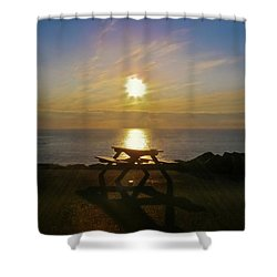 Sunset Picnic Shower Curtain by Terri Waters