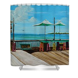 Sunset Pier Tiki Bar - Key West Florida Shower Curtain