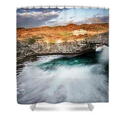 Shower Curtain featuring the photograph Sunset Point In Broken Beach by Pradeep Raja Prints