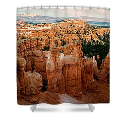 sunset Point Panoramic Shower Curtain