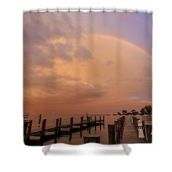 Sunset Rainbow Shower Curtain