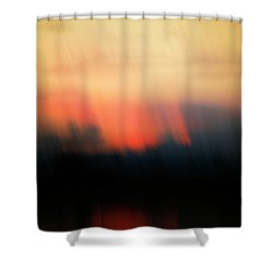 Shower Curtain featuring the photograph Sunset Raining Down by Marilyn Hunt