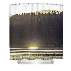 Sunset Rays, Lake Tahoe Shower Curtain