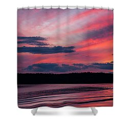 Sunset Red Lake Shower Curtain