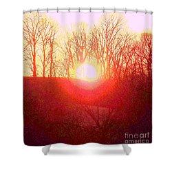 Sunset Red Yellow Shower Curtain