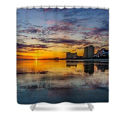 Sunset Reflection Shower Curtain by David Smith