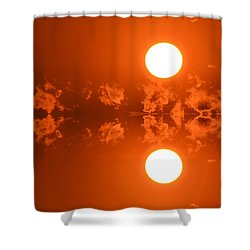 Shower Curtain featuring the photograph Sunset Reflection  by Lyle Crump