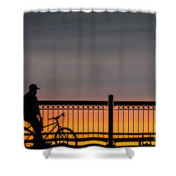 Sunset Reflection Shower Curtain by Mike Ste Marie