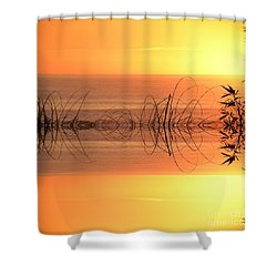 Sunset Reflection Shower Curtain by Sheila Ping