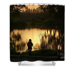 Shower Curtain featuring the photograph Sunset Reflections by Arik Baltinester