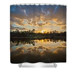 Sunset Reflections Shower Curtain by Linda Unger