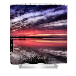Shower Curtain featuring the photograph Sunset Reflections by Phil Mancuso