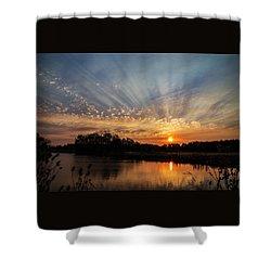 Sunset Refuge Shower Curtain